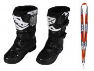 Fly Racing Maverik MX Boots 2020 Youth Black Size 4