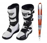 Fly Racing Maverik MX Boots 2020 Adult White/Black Size 12