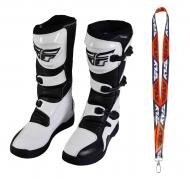 Fly Racing Maverik MX Boots 2020 Adult White/Black Size 13