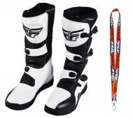 Fly Racing Maverik MX Boots 2020 Adult White/Black Size 14