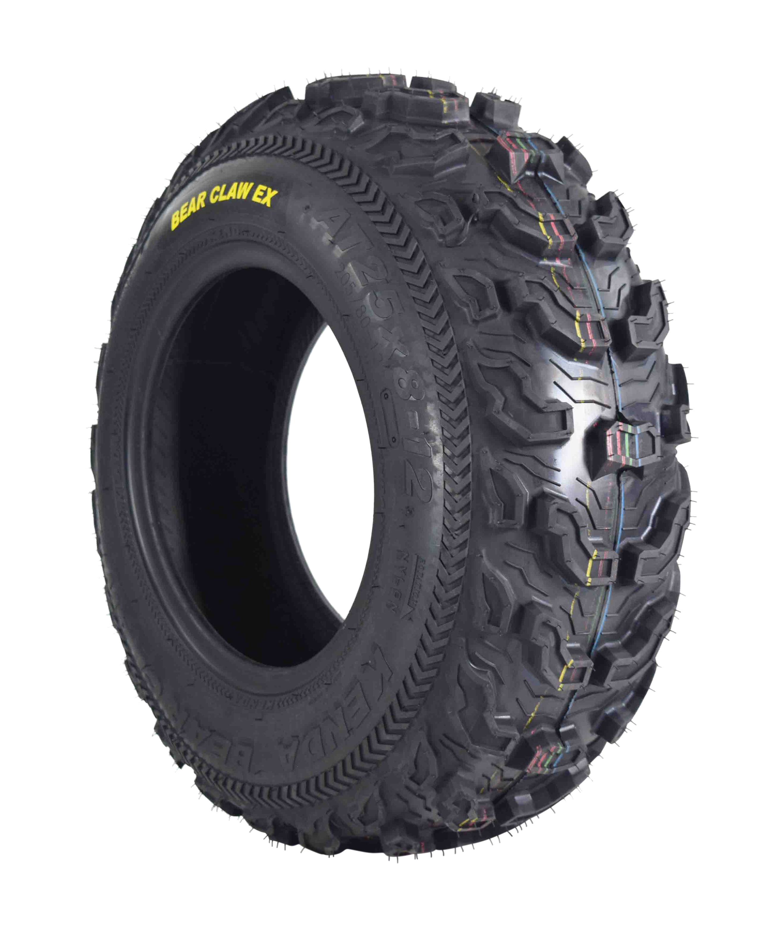 Kenda-Bear-Claw-EX-25x8-12-Front-ATV-6-PLY-Tire-Bearclaw-25x8x12-Single-Tire-image-1