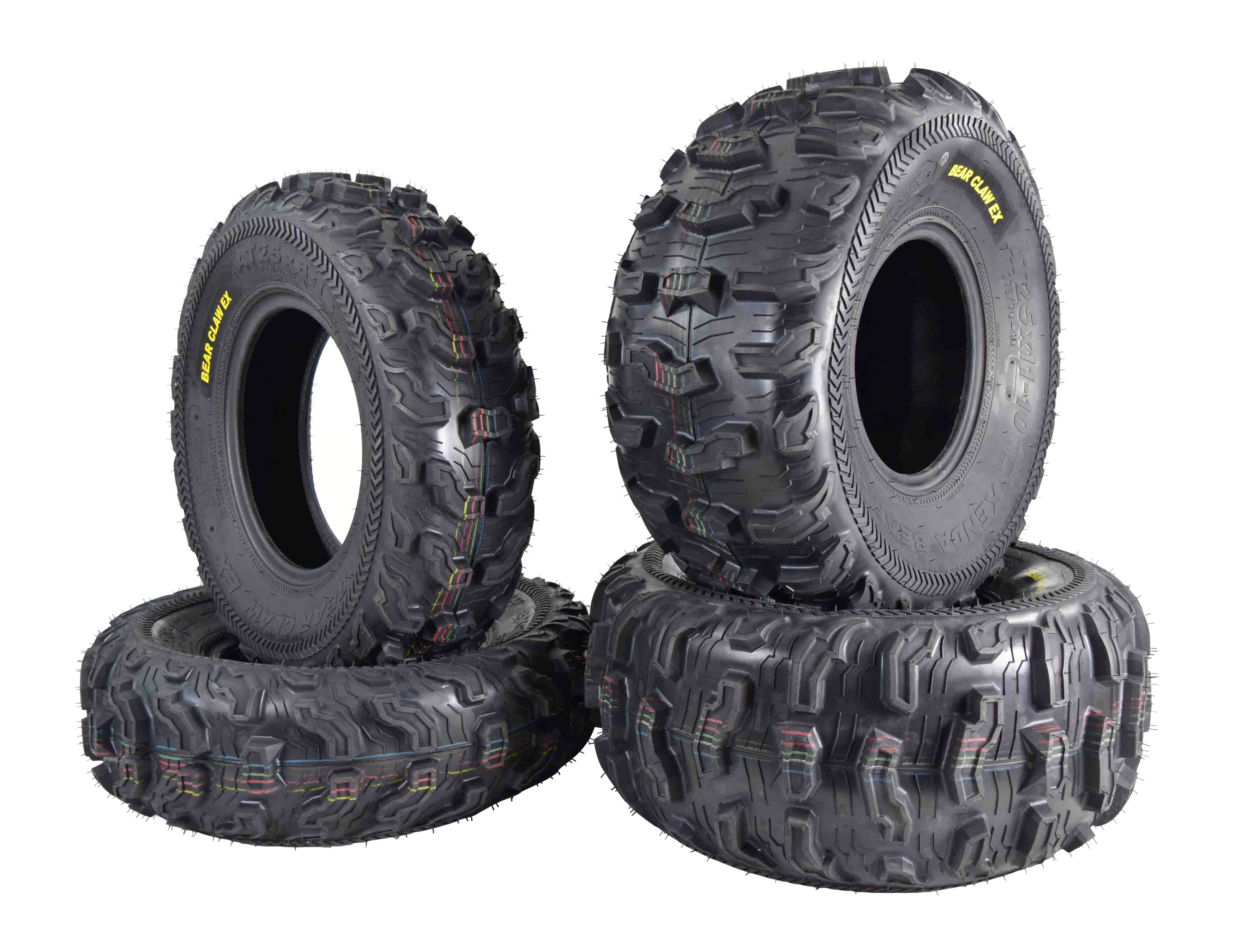 Kenda-Bear-Claw-EX-25x8-12-F-25x11-10-R-ATV-6-PLY-Tires-Bearclaw-4-Pack-Set-image-1