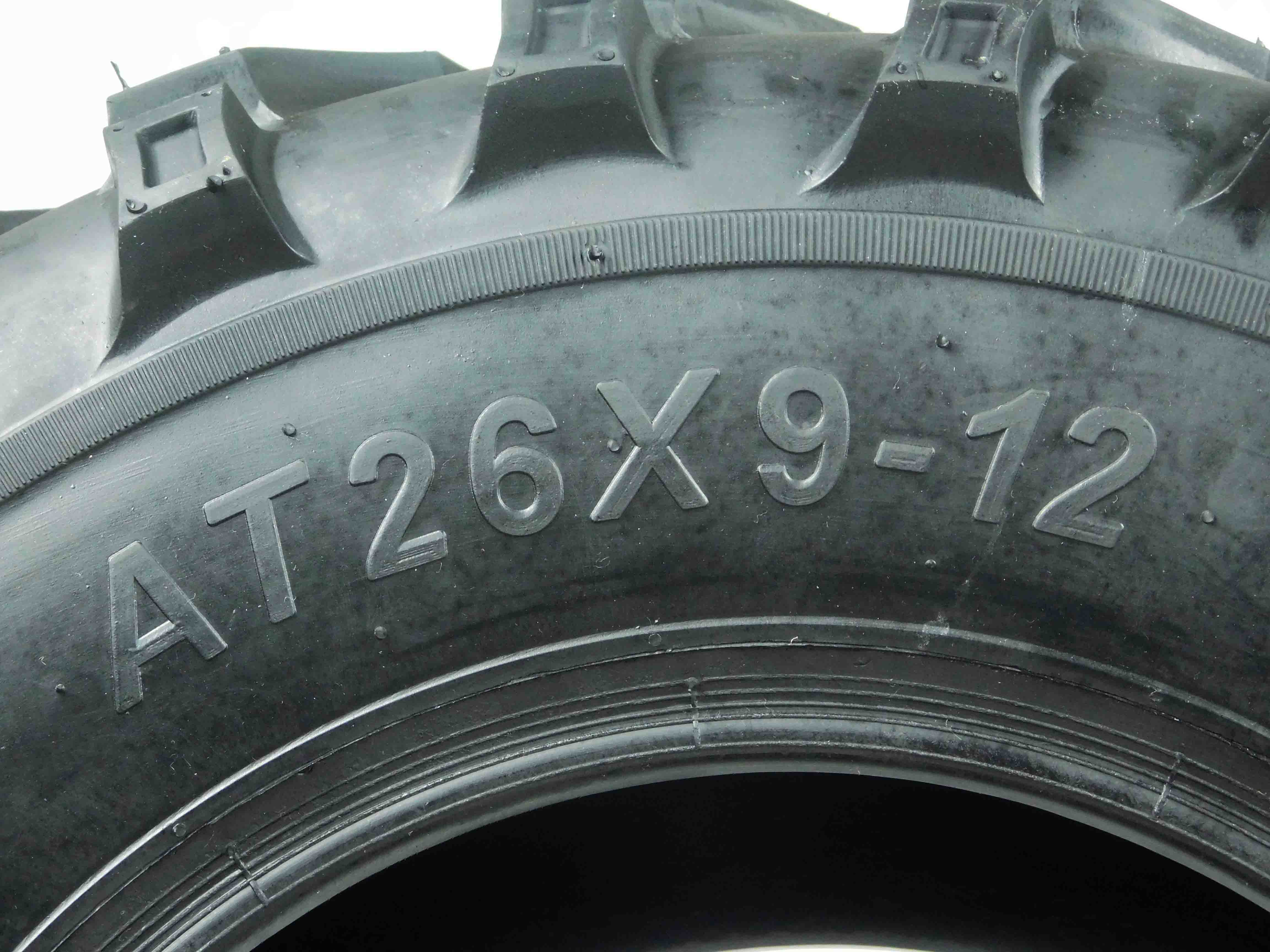 MASSFX MS26912 6PLY 26x9-12 Front ATV/UTV Tire, Single ...