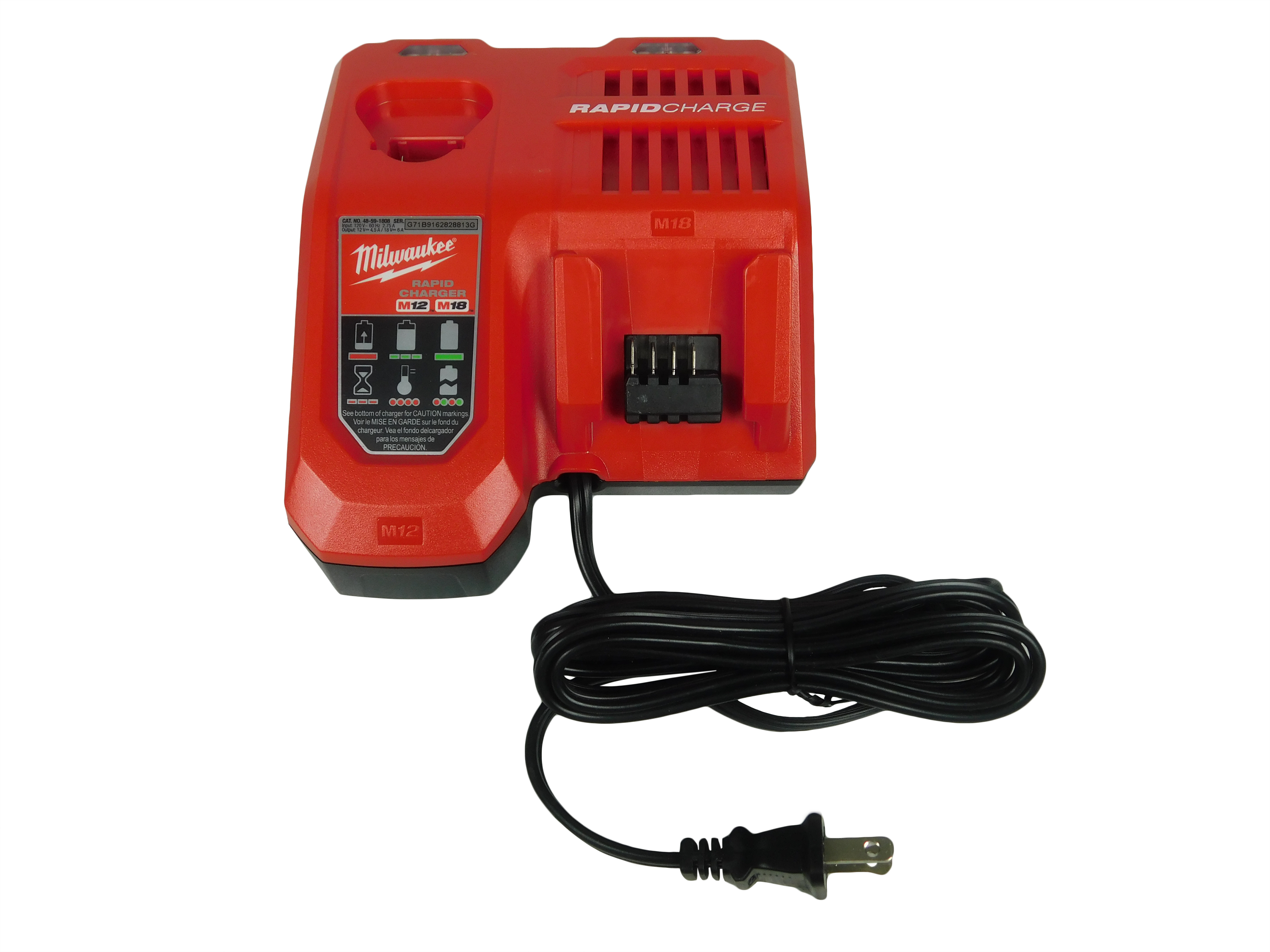 Milwaukee-48-59-1808-M18-M12-Lithium-Ion-Battery-Rapid-Charger-image-1