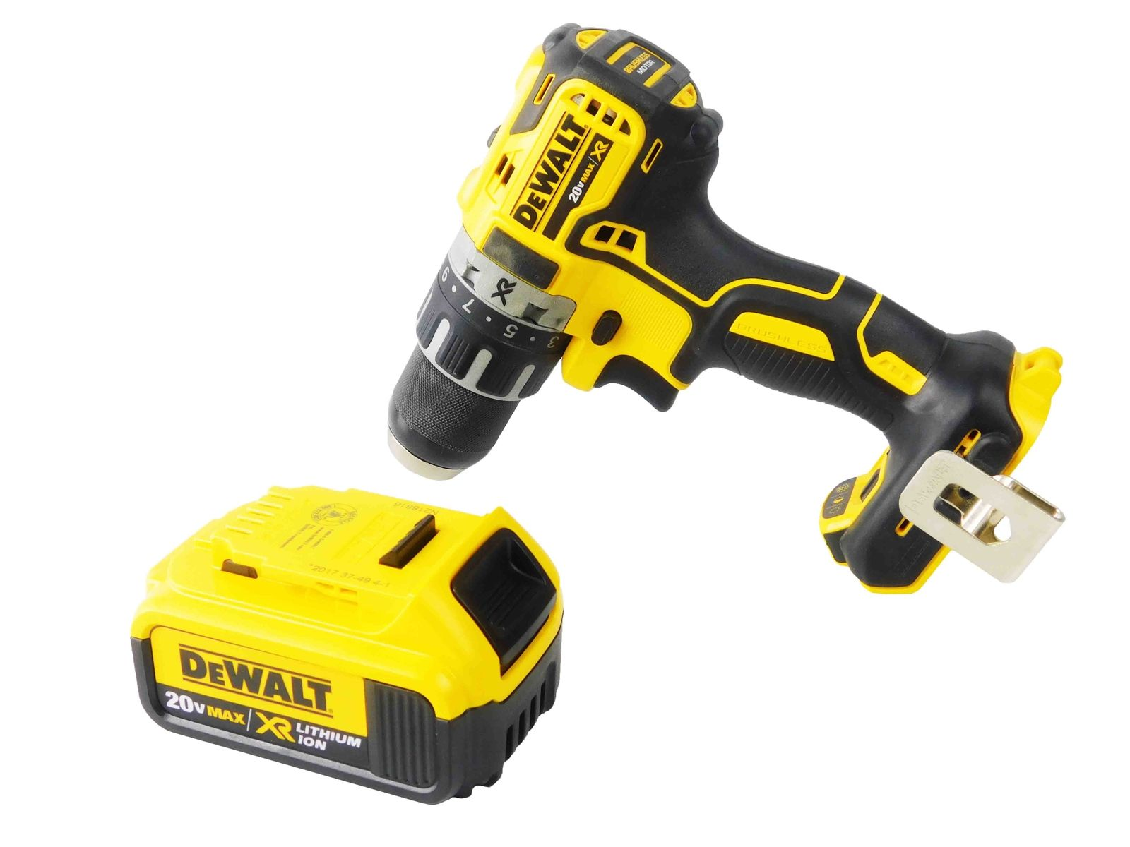 Dewalt-DCD791B-20V-1-2-Brushless-Drill-4Ah-DCB204-Lithium-Ion-Battery-image-1