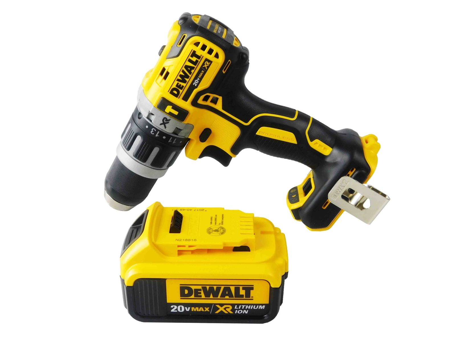 Dewalt-DCD796B-20V-Brushless-Hammer-Drill-DCB204-4-Ah-Battery-Pack-image-1