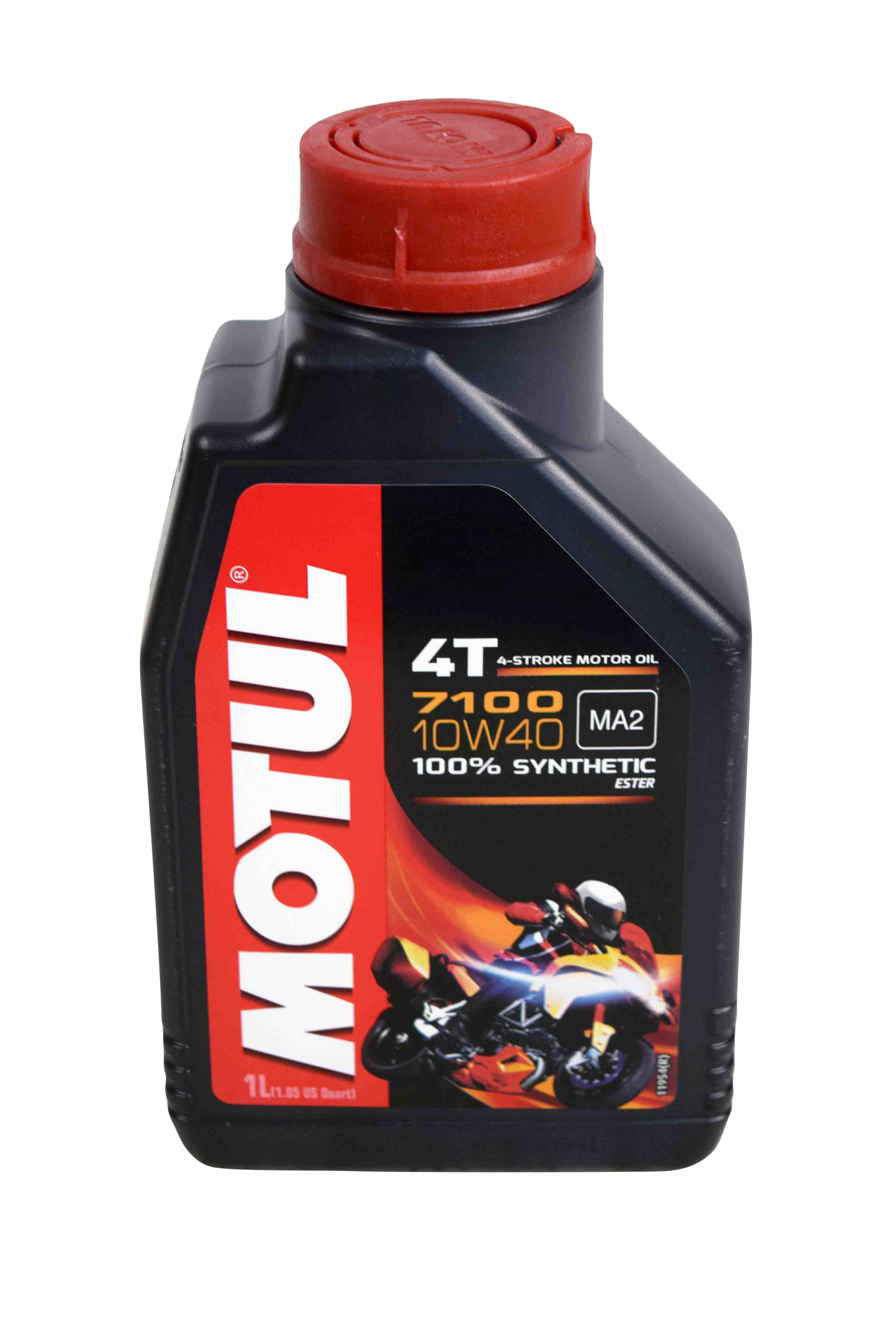 Motul-104091-7100-Ester-4T-Fully-Synthetic-10W-40-Petrol-Engine-Oil-for-Bikes-1-L-image-1