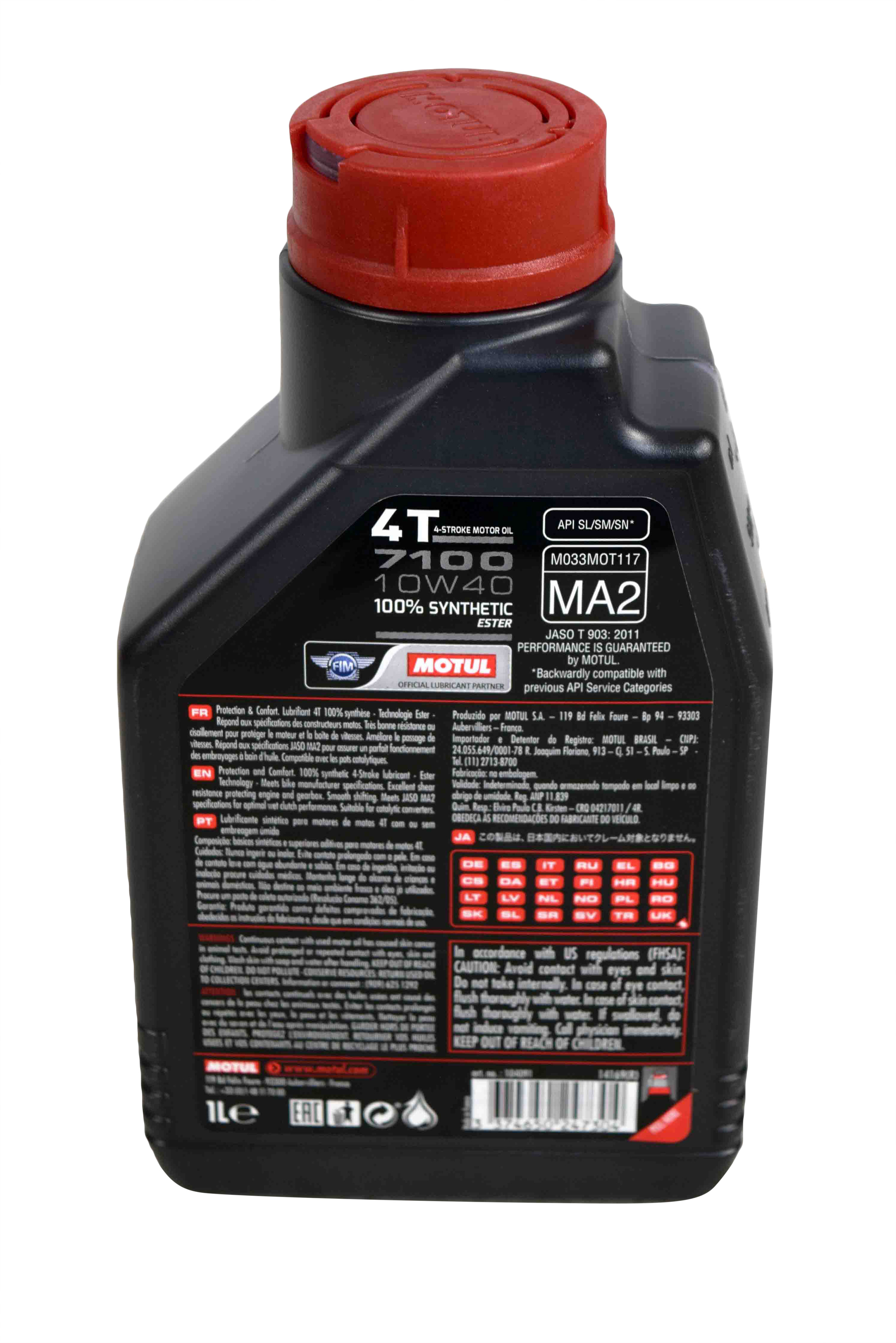 Motul-104091-7100-Ester-4T-Fully-Synthetic-10W-40-Petrol-Engine-Oil-for-Bikes-1-L-image-3