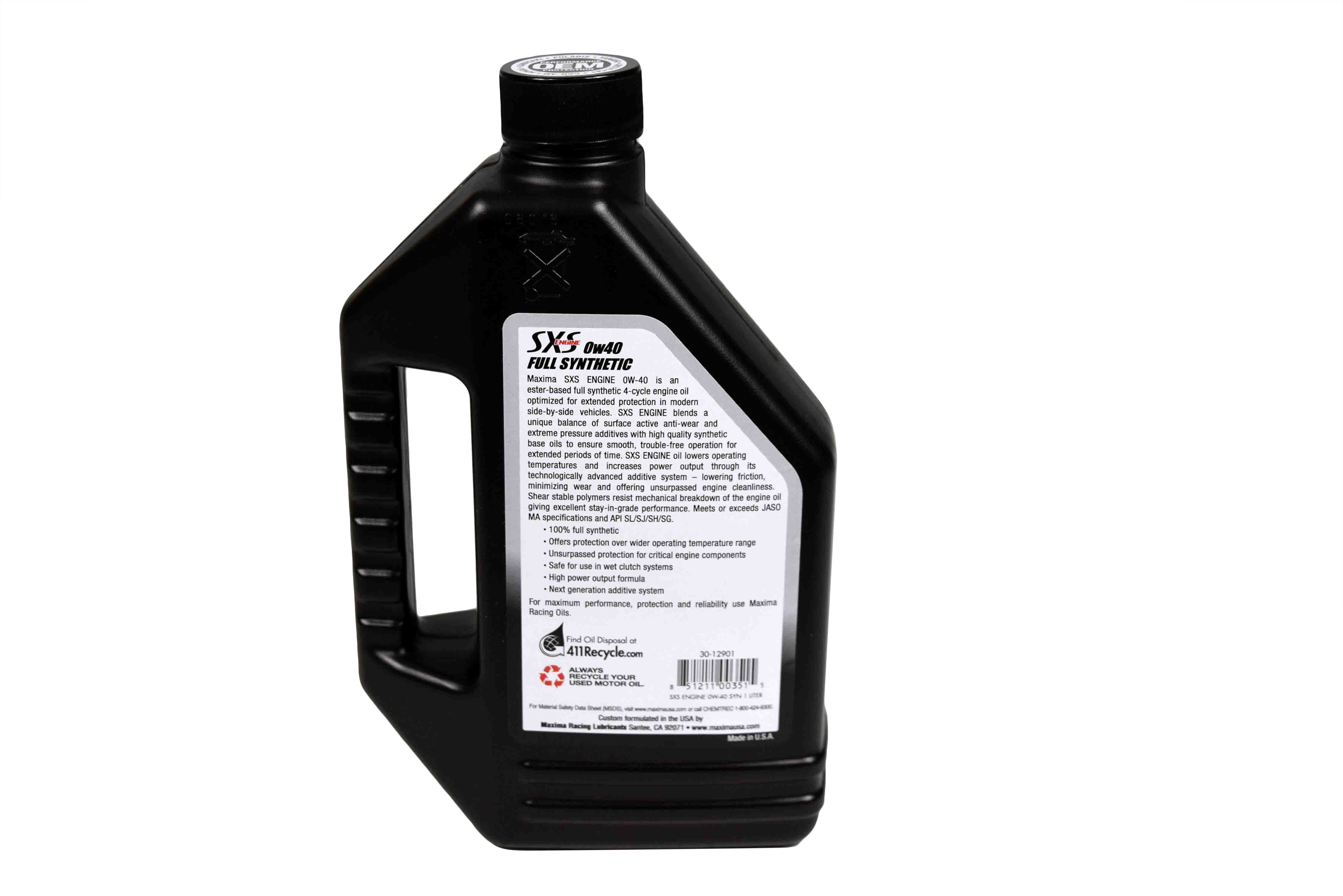 Maxima-Racing-Oils-30-12901-0W-40-Side-By-Side-Engine-Oil-1-Liter-image-3