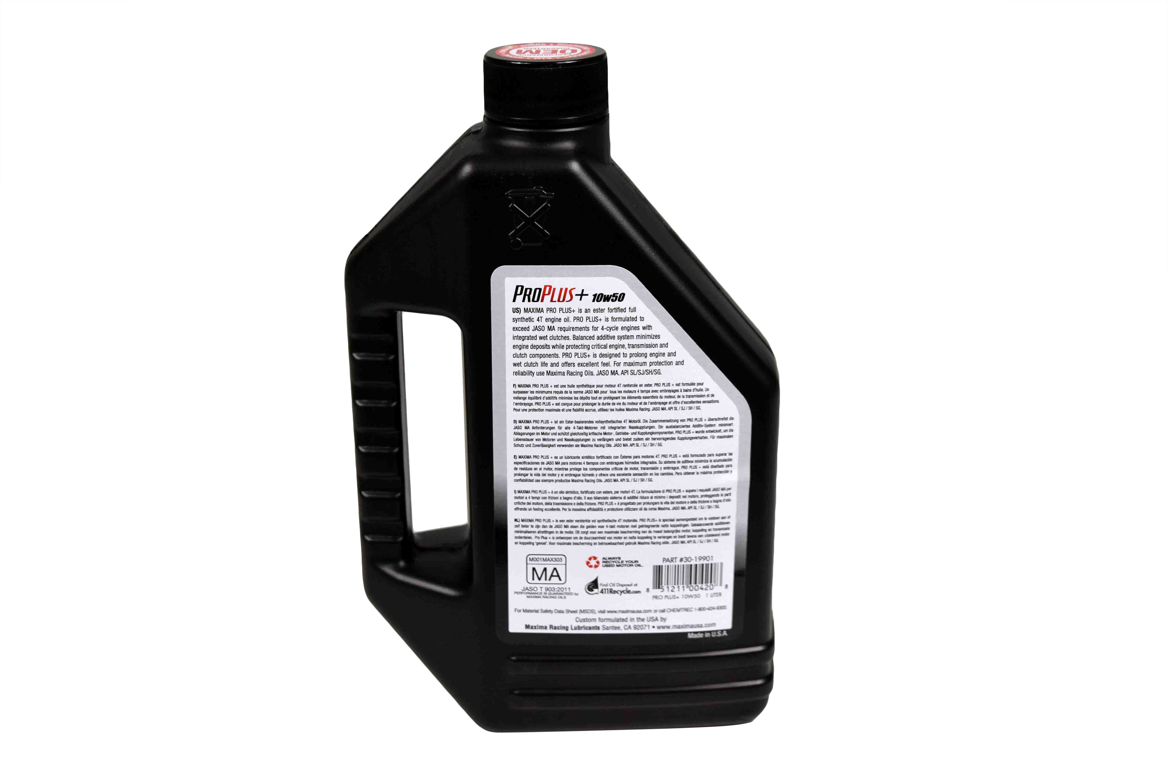 Maxima-Racing-Oils-30-19901-Pro-Plus-10W-50-Synthetic-Motorcycle-Oil-1-Liter-image-3