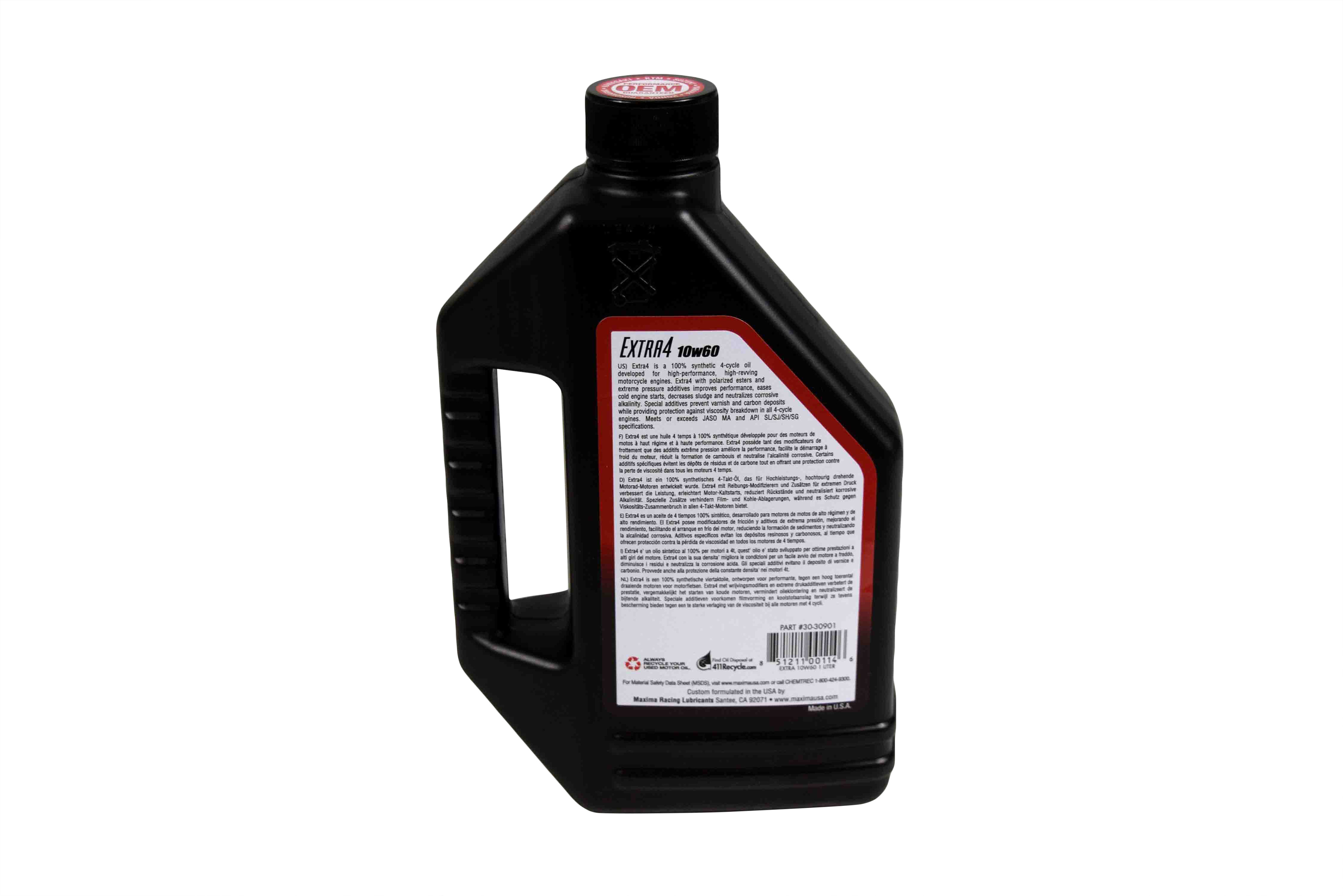 Maxima-30-30901-Extra4-10W-60-Synthetic-4T-Motorcycle-Engine-Oil-1-Liter-Bottle-image-3