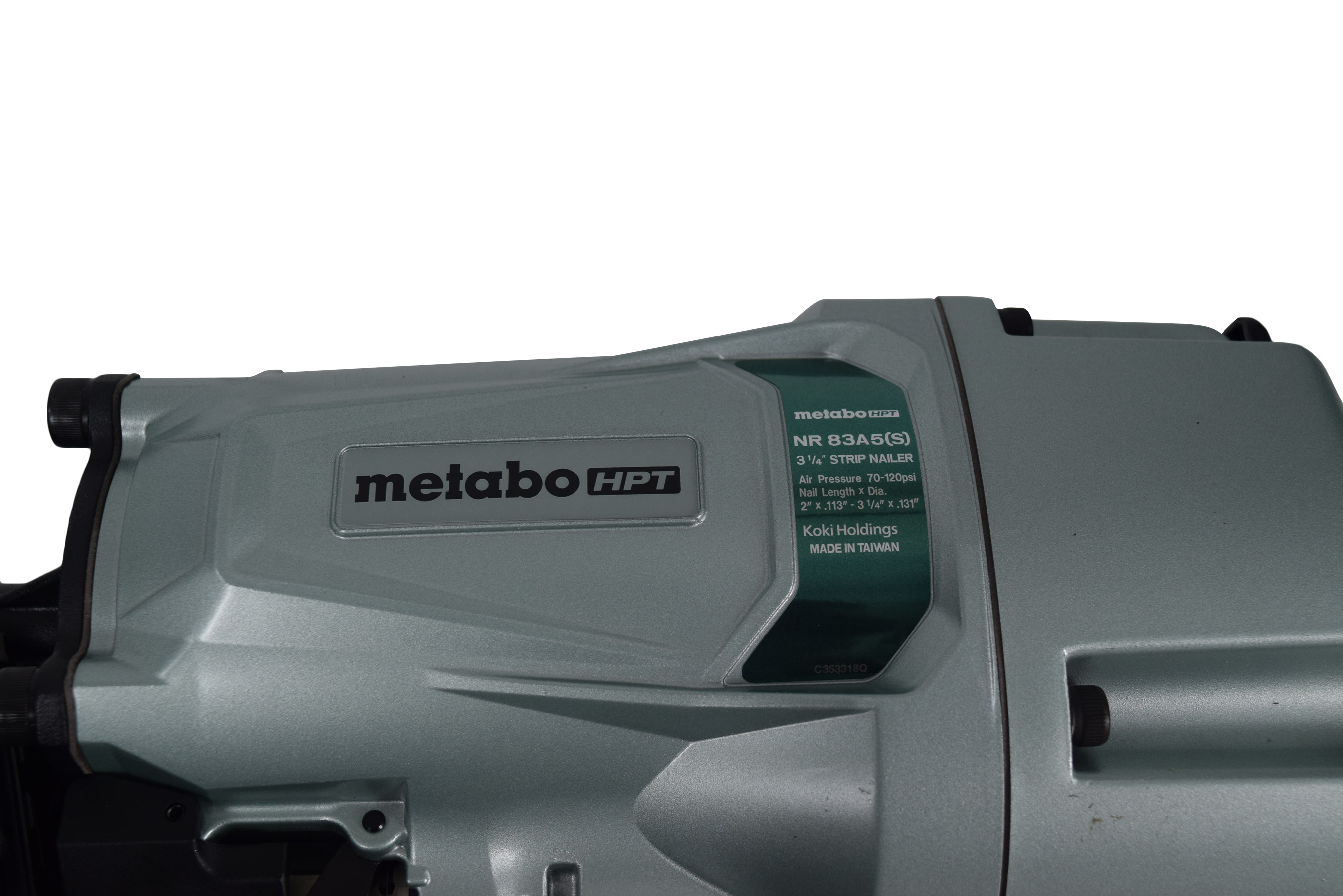 Metabo-NR83A5-S-HPT-Pneumatic-Framing-Nailer-With-21-Degree-Magazine-image-5