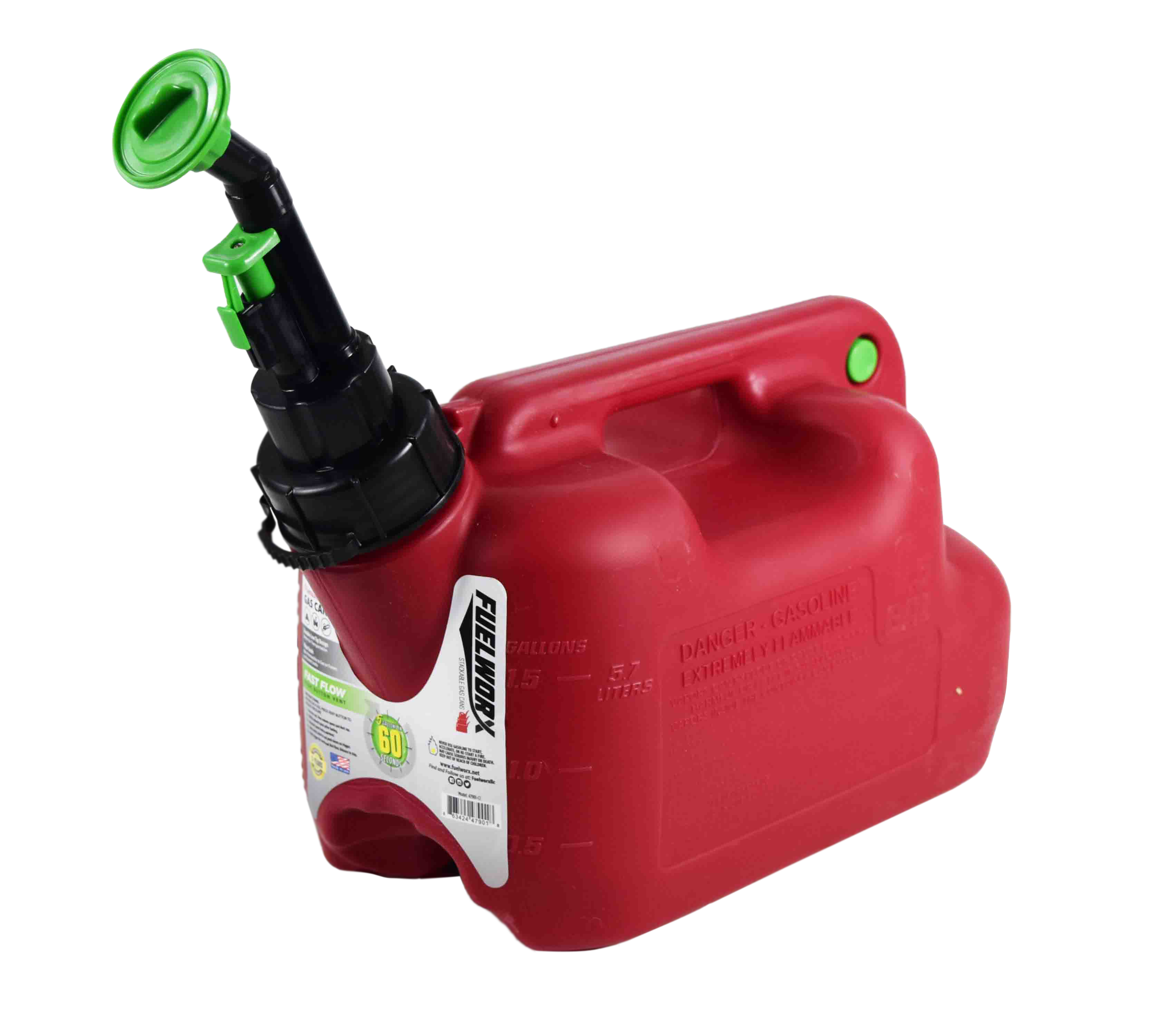 Fuelworx-Red-1.5-Gallon-Stackable-Fast-Pour-Gas-Fuel-Cans-CARB-Compliant-Made-in-The-USA-1.5-Gallon-Gas-Can-Single-image-2