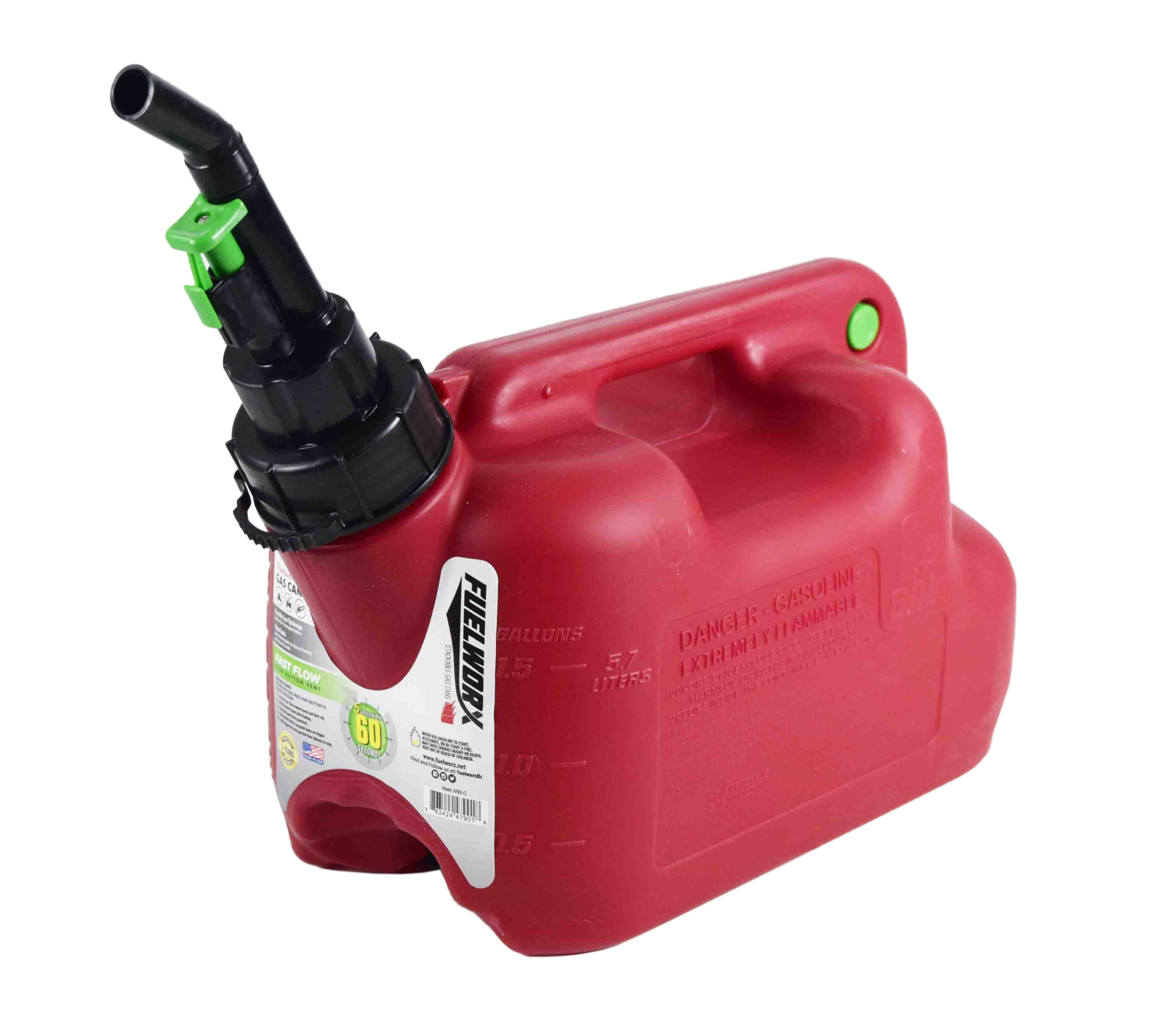 Fuelworx-Red-1.5-Gallon-Stackable-Fast-Pour-Gas-Fuel-Cans-CARB-Compliant-Made-in-The-USA-1.5-Gallon-Gas-Can-Single-image-3