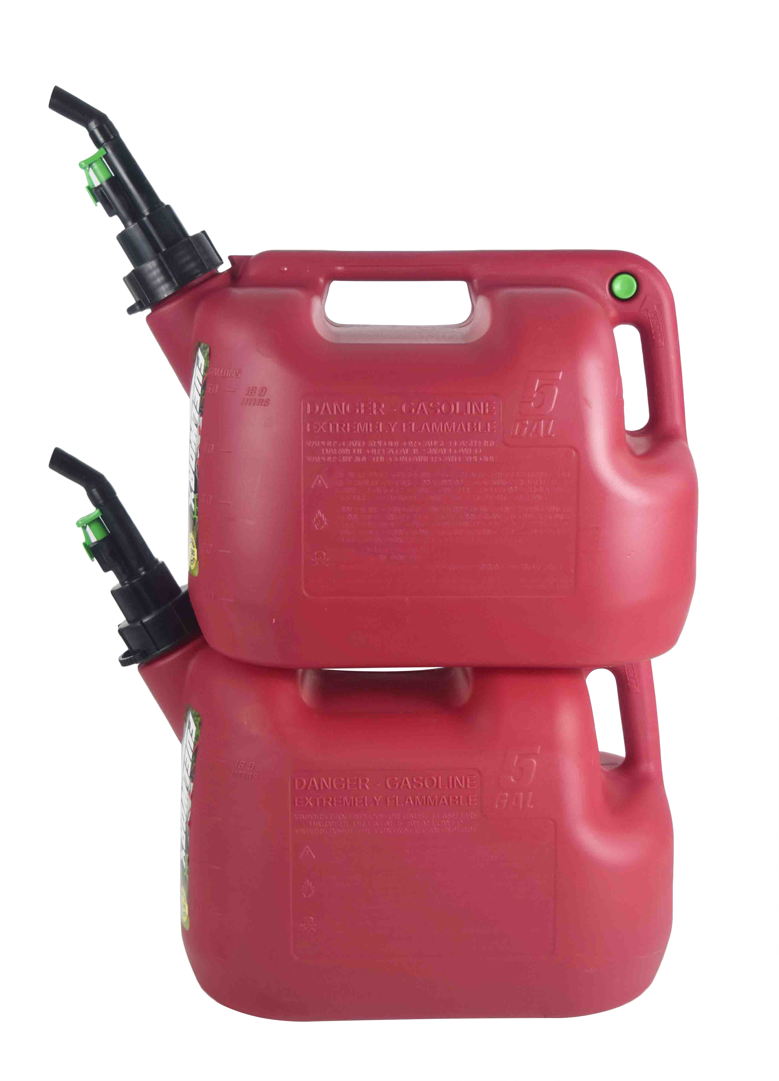 Fuelworx-Red-5-Gallon-Stackable-Fast-Pour-Gas-Fuel-Can-CARB-Compliant-Made-in-The-USA-5-Gallon-Gas-Can-2-Pack-image-2