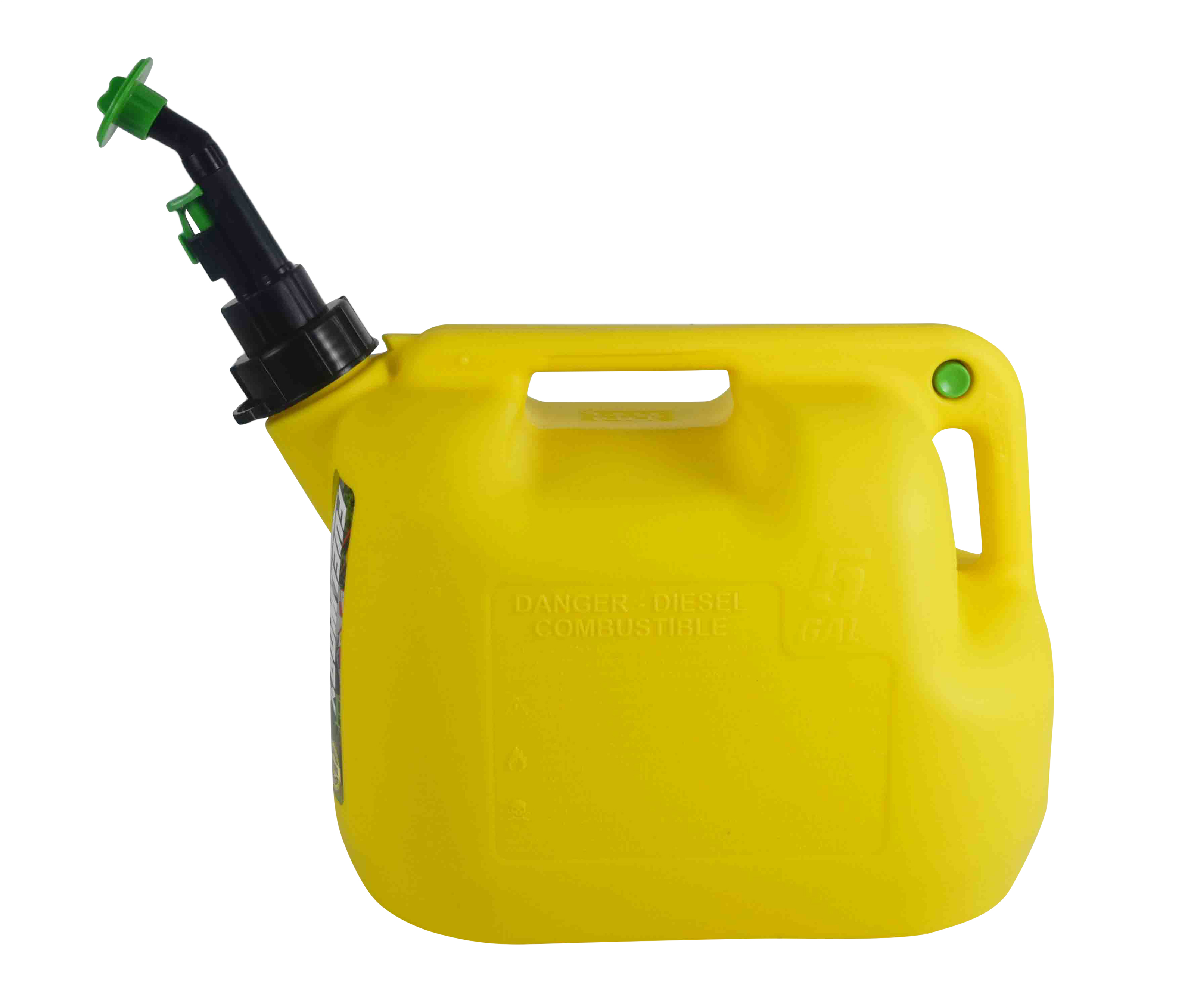 Fuelworx-Yellow-5-Gallon-Stackable-Fast-Pour-Diesel-Fuel-Cans-CARB-Compliant-Made-in-The-USA-5-Gallon-Diesel-Cans-Single-image-2
