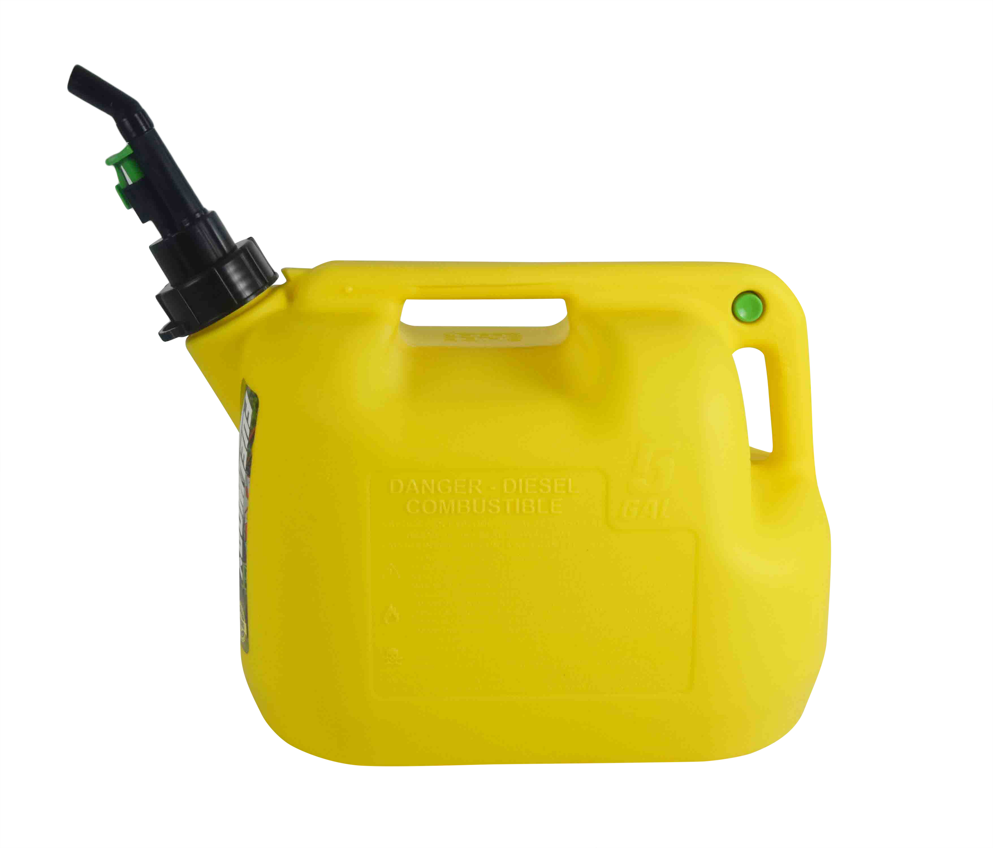 Fuelworx-Yellow-5-Gallon-Stackable-Fast-Pour-Diesel-Fuel-Cans-CARB-Compliant-Made-in-The-USA-5-Gallon-Diesel-Cans-Single-image-4