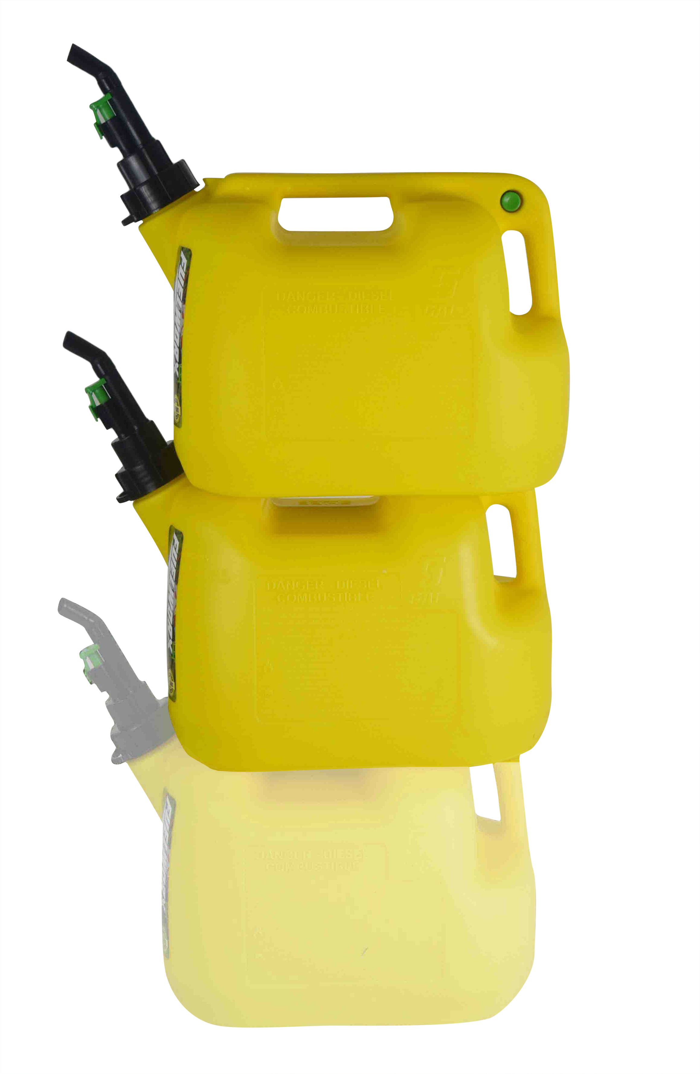 Fuelworx-Yellow-5-Gallon-Stackable-Fast-Pour-Diesel-Fuel-Cans-CARB-Compliant-Made-in-The-USA-5-Gallon-Diesel-Cans-2-Pack-image-1