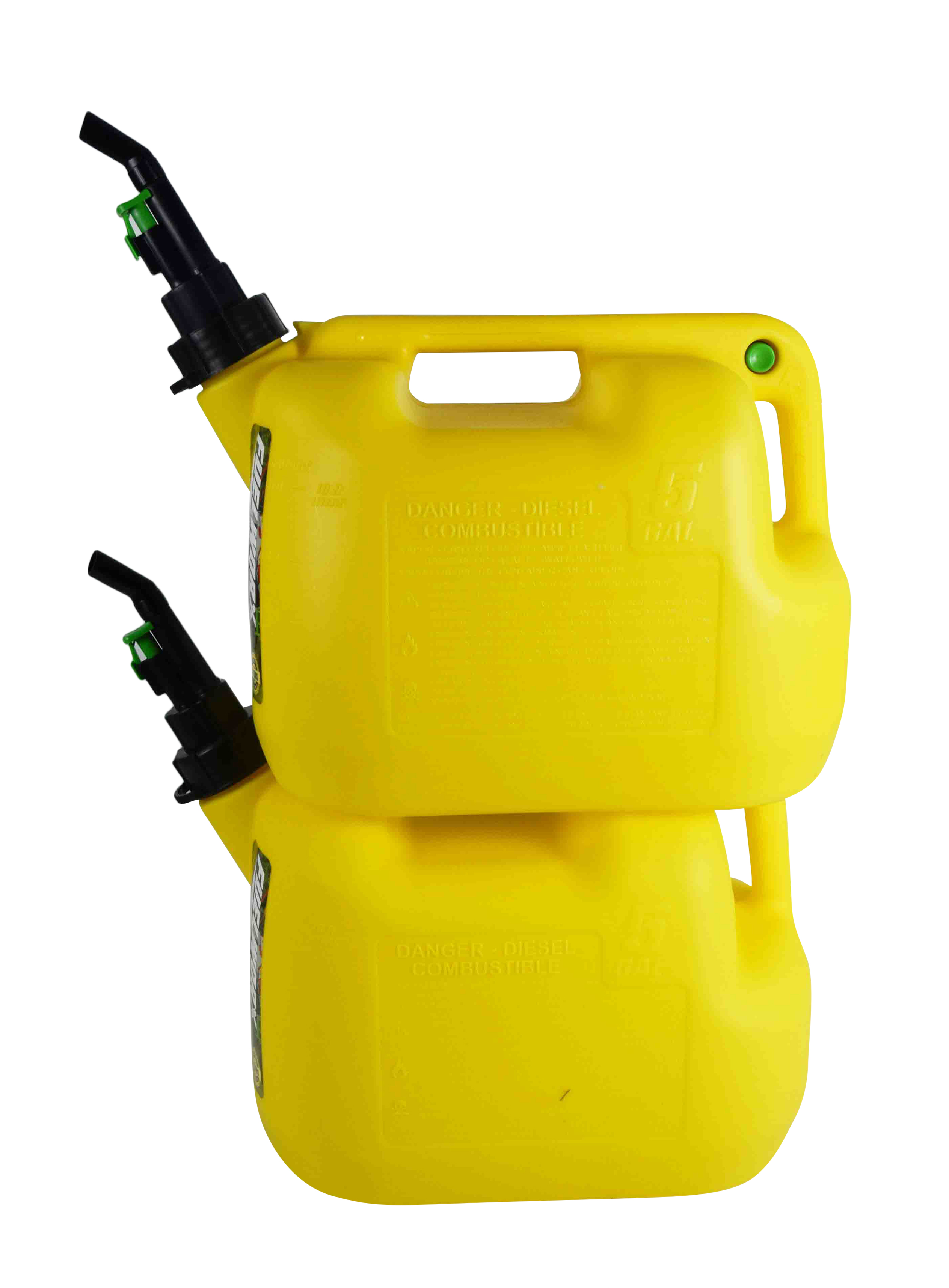 Fuelworx-Yellow-5-Gallon-Stackable-Fast-Pour-Diesel-Fuel-Cans-CARB-Compliant-Made-in-The-USA-5-Gallon-Diesel-Cans-2-Pack-image-2