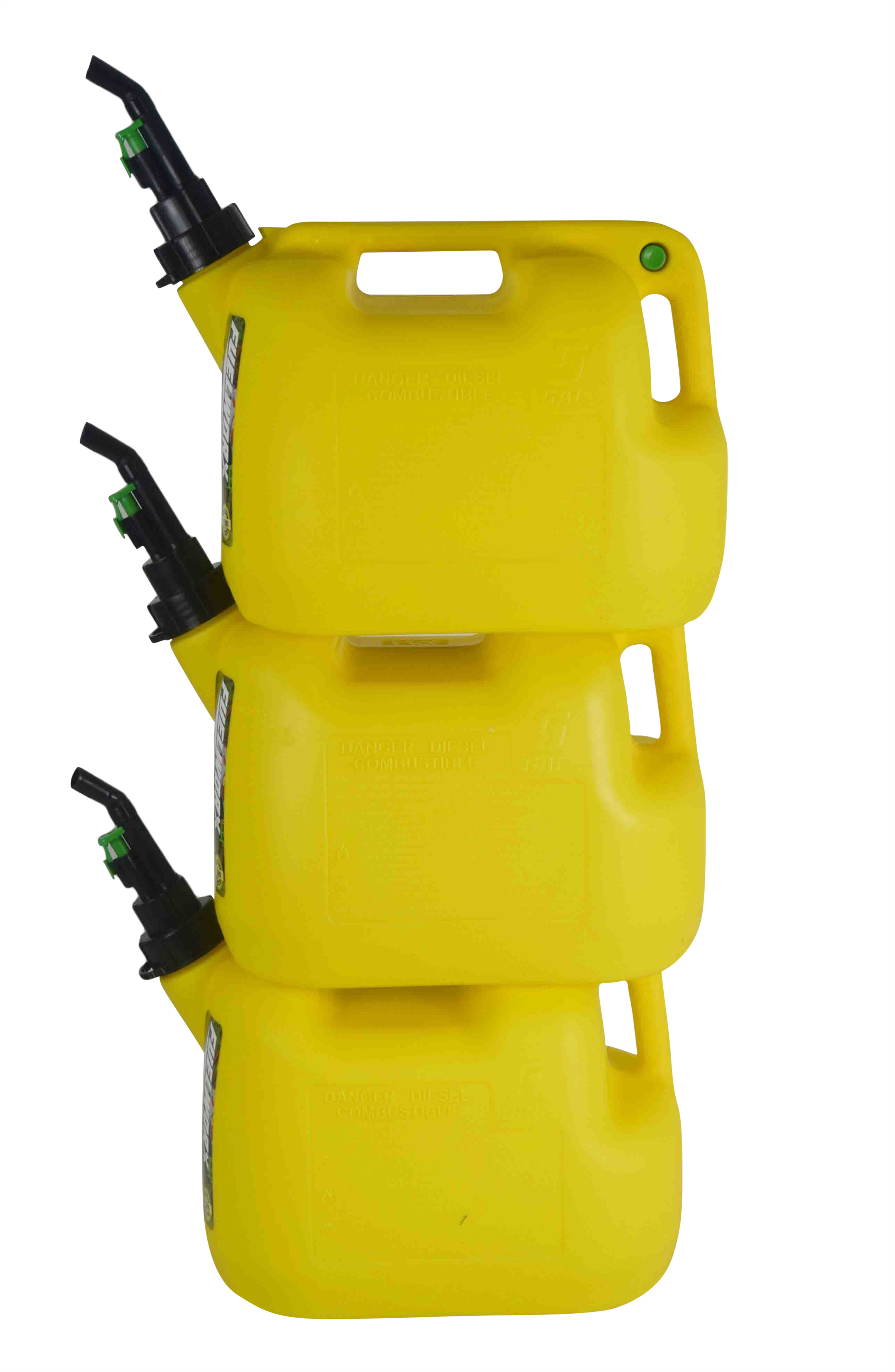Fuelworx-Yellow-5-Gallon-Stackable-Fast-Pour-Diesel-Fuel-Cans-CARB-Compliant-Made-in-The-USA-5-Gallon-Diesel-Cans-3-Pack-image-1