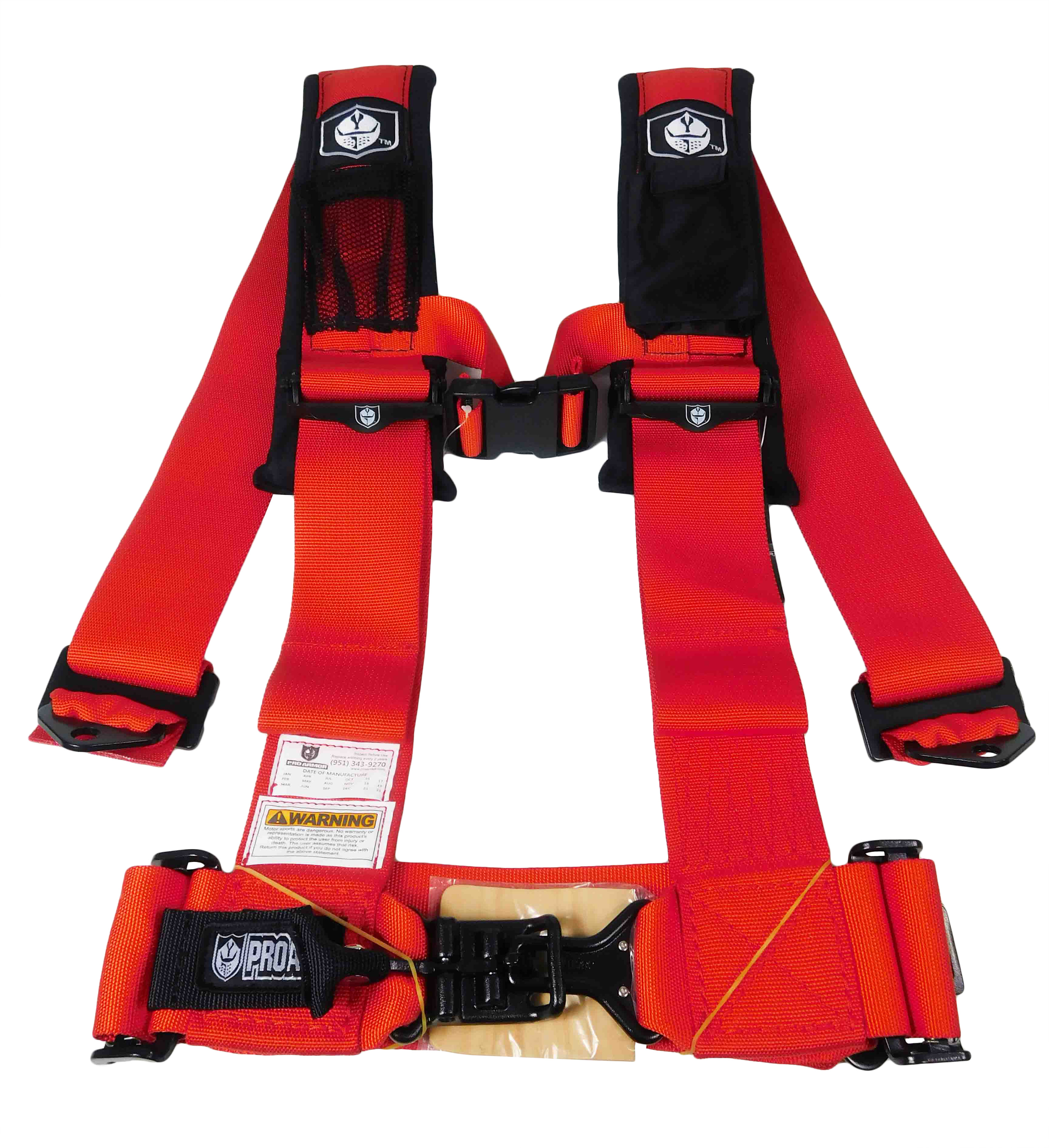 Pro-Armor-A114230RD-4-Point-3inch-Harness-with-Sewn-in-Pads-Red-image-1