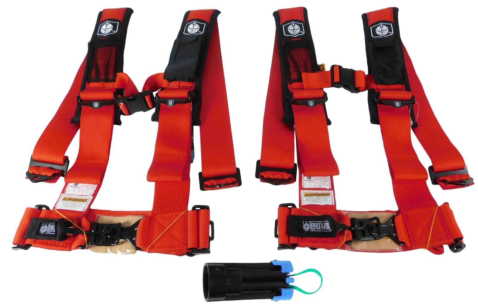 Pro-Armor-A114230RD-x2-P151100-4-Point-3inch-Harness-w-Override-Clip-Red-2-PACK-image-1