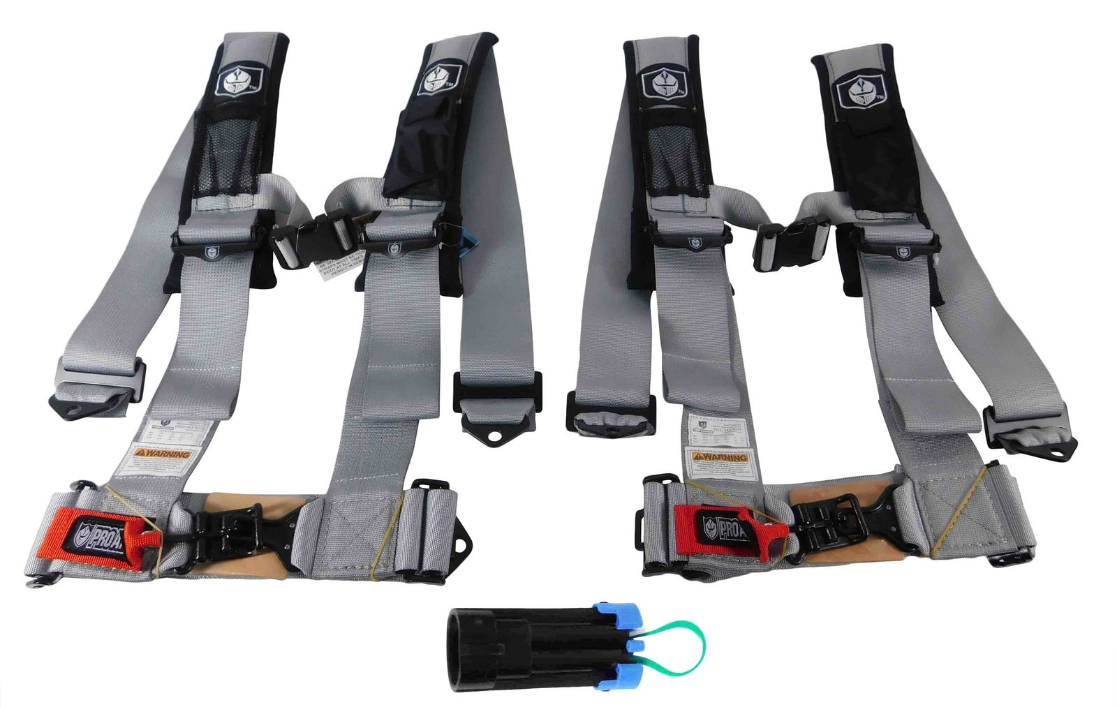 Pro-Armor-A114230ORx2-P151100-4-Point-3-Harness-w-Override-Clip-Silver-2-PACK-image-1