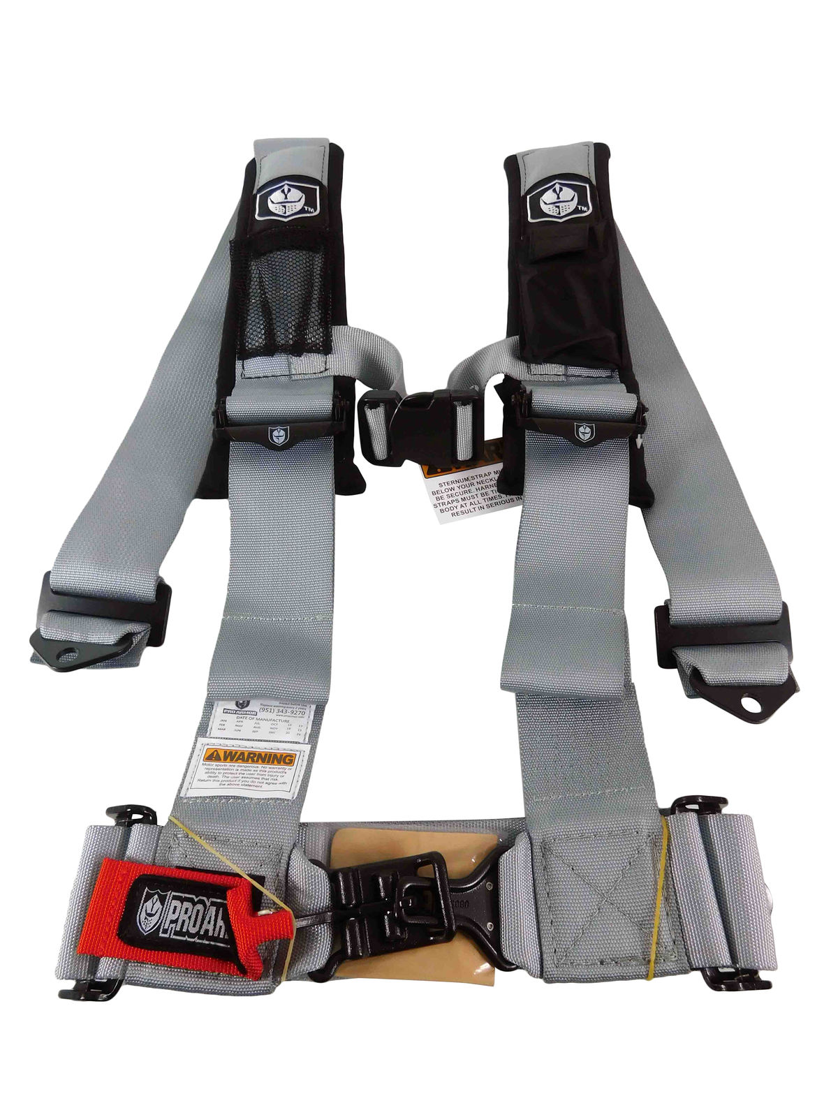 Pro-Armor-A114230ORx2-P151100-4-Point-3-Harness-w-Override-Clip-Silver-2-PACK-image-2
