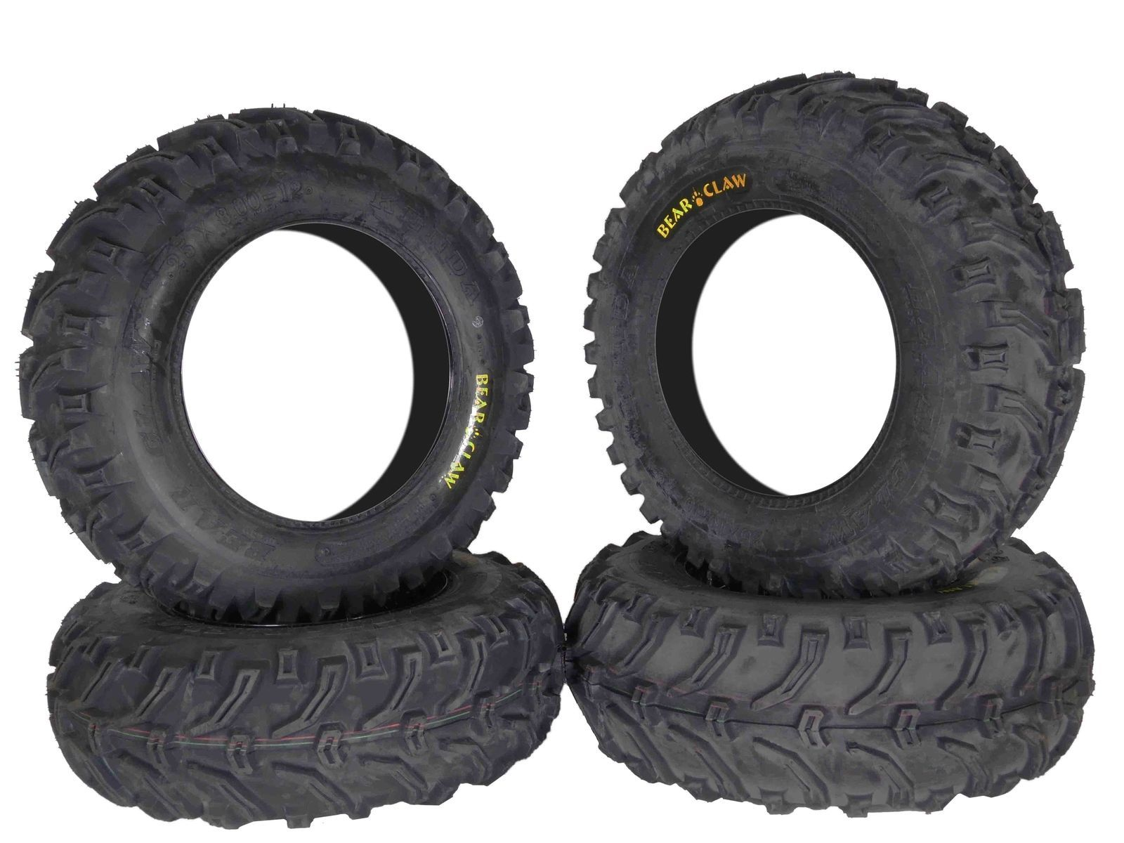 Kenda-Bear-Claw-K299-25x8-12-25x10-12-Front-Rear-ATV-Tire-Set-6PLY-image-1