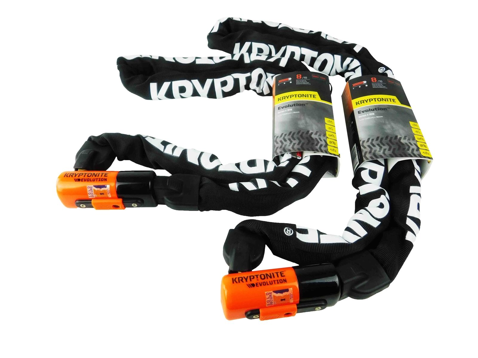 Kryptonite Evolution Series 4 1016 5.25 ft Integrated Chain 2-Pack