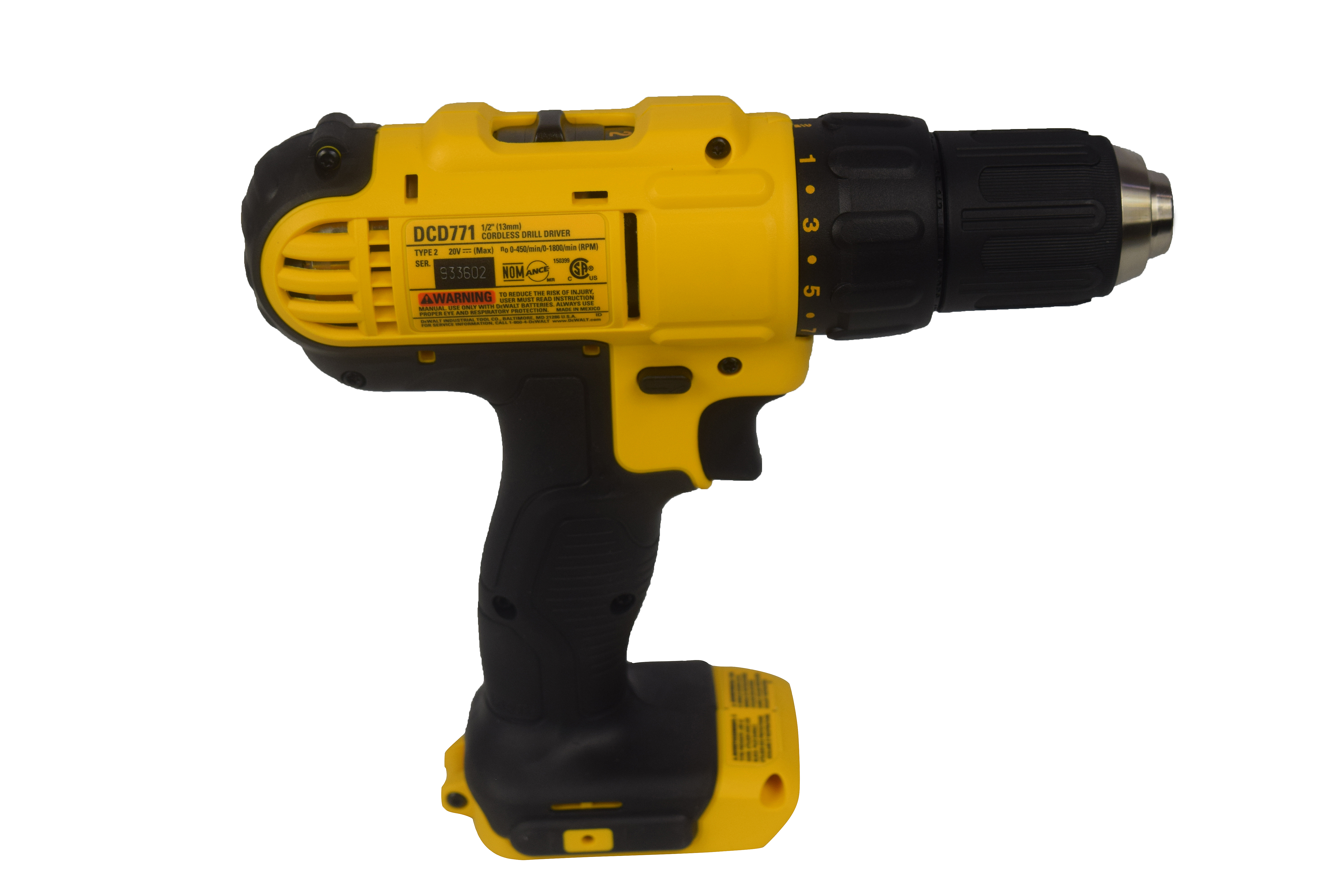 Dewalt-DCD771B-20V-1-2inch-Lithium-Ion-Cordless-Compact-Drill-Driver-image-3