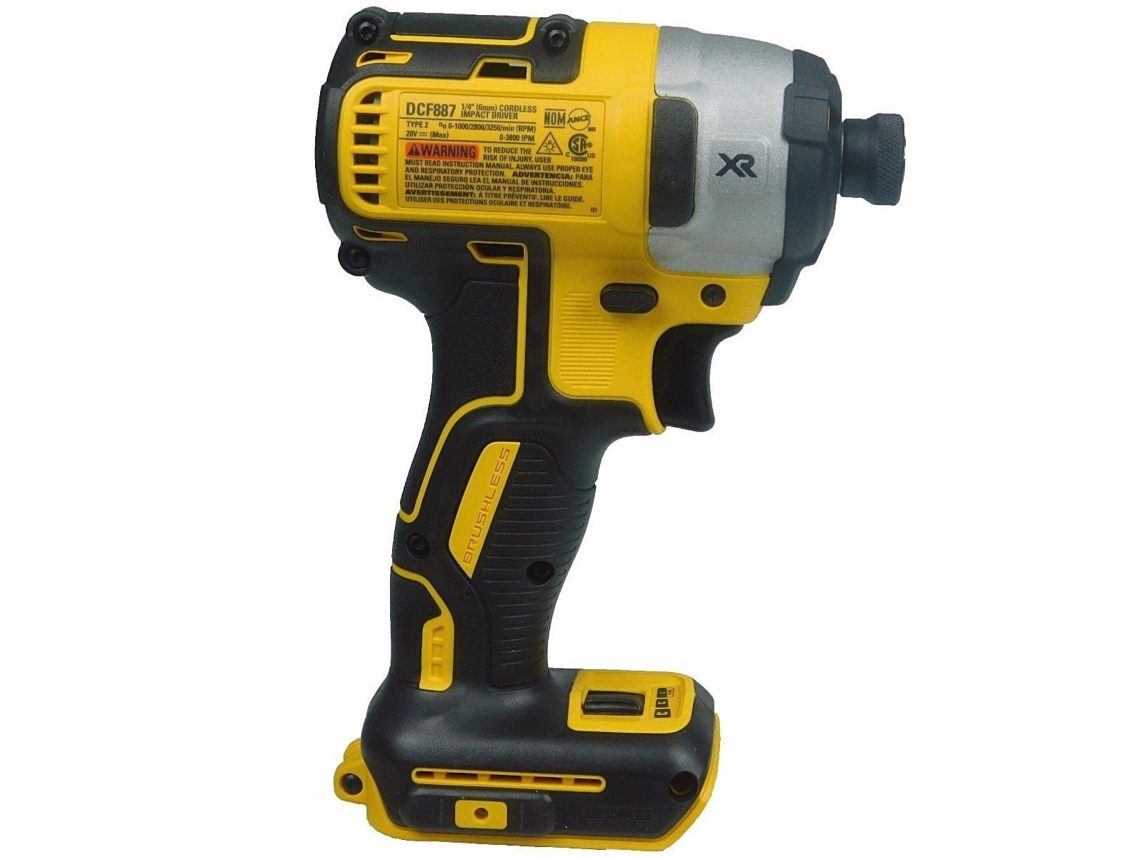 Dewalt Impact Driver Dcf887b 20v Lithium Ion 3 Speed