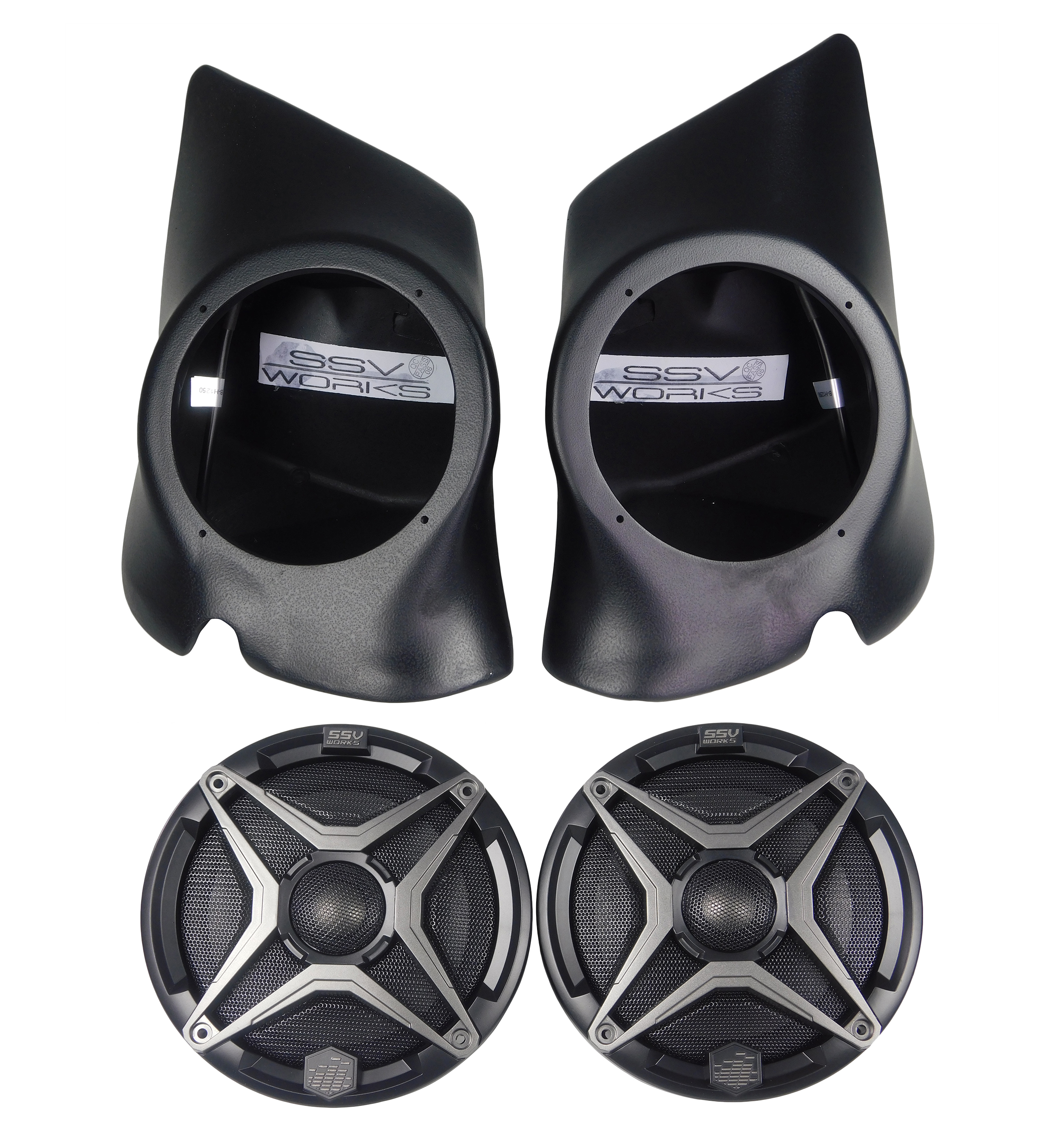 SSV-Works-RZ3-F65-Front-Speaker-Pods-Polaris-RZR-XP-1000-Two-Speakers-image-1