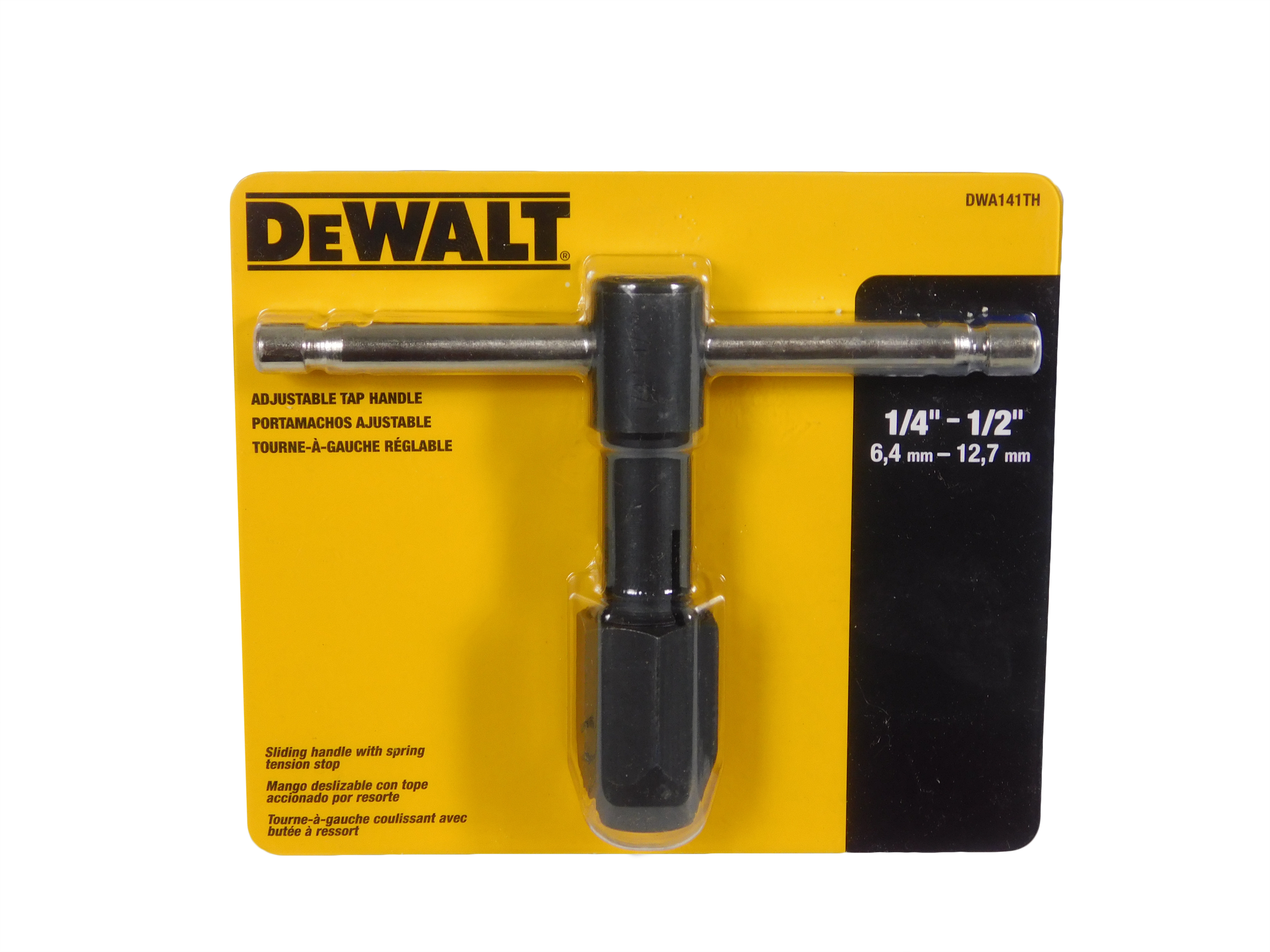 Dewalt-DWA141TH-1-4-in.-x-1-2-in.-Adjustable-Tap-Handle-image-1
