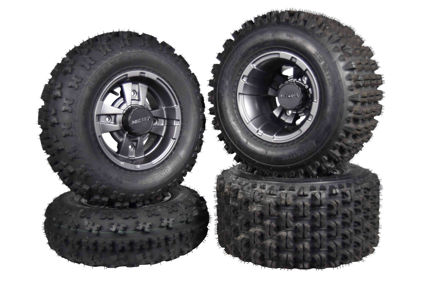 21x7-10 20x10-9 All 4 Tires Yamaha Raptor Warrior MASSFX Front and Rear